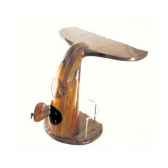 le comptoir de bar queue de baleine avec rangement dans le pietement en bois de rauli 50 cm x 120 cm x 110 cm last mqu110 r