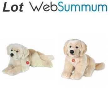 2 Peluches Labrador Golden Retriever Hermann Teddy -LWS-301