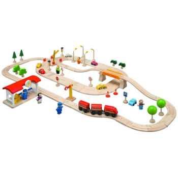 Circuit Routes et Rails 80 PlanToys -6090