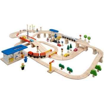 Circuit Routes et Rails 110 PlanToys -6091