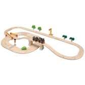 circuit routes et rails 42 pcs plantoys 6096