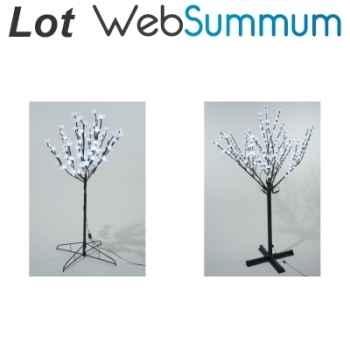Lot 2 grands arbres lumineux décors Noël extérieurs LED -LWS-322