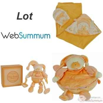 Lot cadeau de naissance peluche mandarine -LWS-452