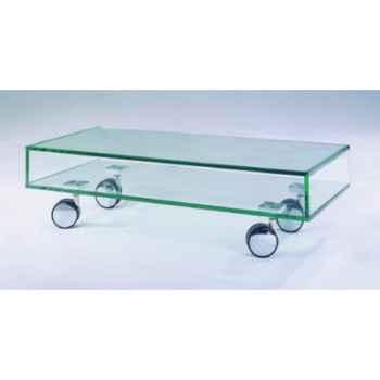 Table télé 90x40x25 Marais pour écran plat en verre trempé -ZEFTV1R