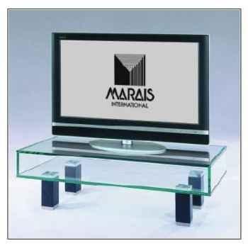 Table télé 90x40x27 Marais pour écran plat en verre trempé -ZEFTV1P