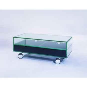 Table télé 90x40x36 Marais pour écran plat en verre trempé -ZEFTV2R