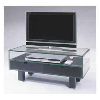 Table télé 90x40x38 Marais pour écran plat en verre trempé -ZEFTV2P