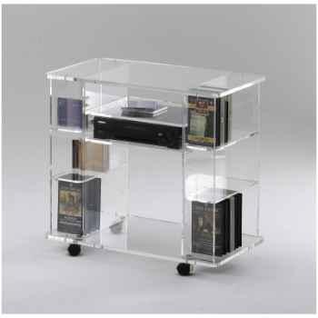 Table télé 80x45x74.5 Marais Hifi Vidéo en PMMA -MT90