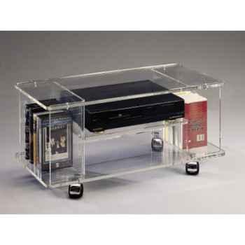 Table télé 80x39.6x37 Marais lecteur DVD en PMMA -MT91