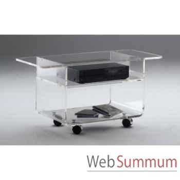 Table télé 90x39.6x42.5 Marais lecteur DVD en PMMA -MTV49