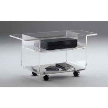 Table télé 100x39.6x42.5 Marais lecteur DVD en PMMA -MTV41