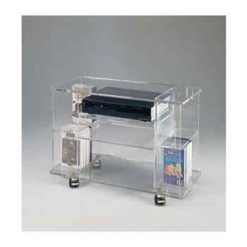 Table télé 80 x 39.5x55.5 Marais lecteur DVD en PMMA -MT92