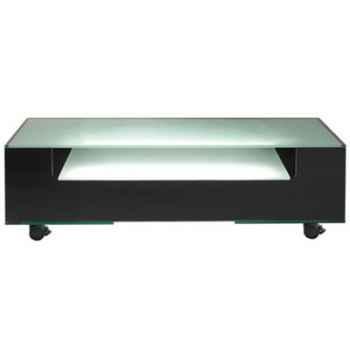 Table télé 125x40x40.7 Marais lumineuse en verre trempé -COLTVL