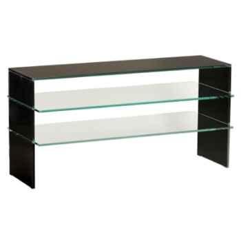 Table télé 100x40x50 Marais pour écran plasma en verre -COLPLASMA