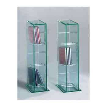 Mini rack CD Marais en verre recuit -CMINICDU