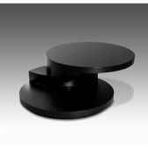table basse ronde marais avec plateau bois rondo e