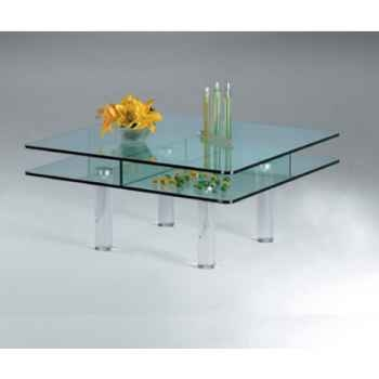 Table basse carrée Marais en verre trempé -CT80