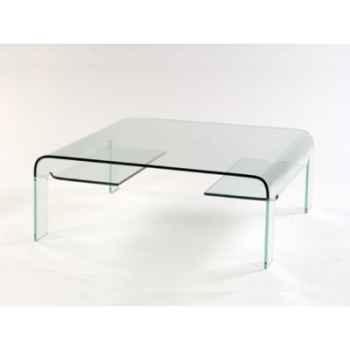 Table basse Marais pont carrée en verre bombé -CARRER