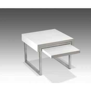 Bout de canapé carré Marais avec tablette -LOUNA392