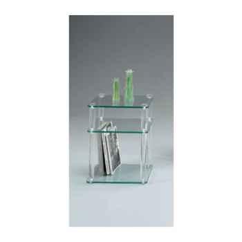Chevet Marais table téléphone composé de rondins en PMMA -MR50