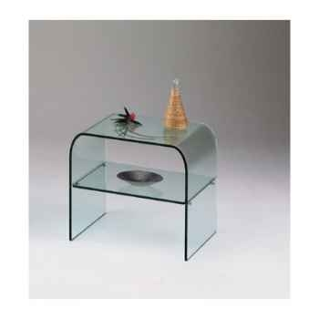 Table de chevet Marais en verre bombé recuit -CHETA