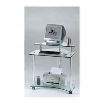 Meuble ordinateur Marais d\'angle sur roulettes -MTUB913
