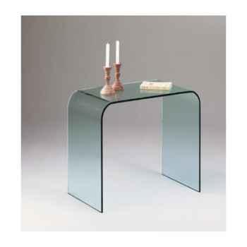 Console Marais ou bureau en verre bombé recuit -CONSO