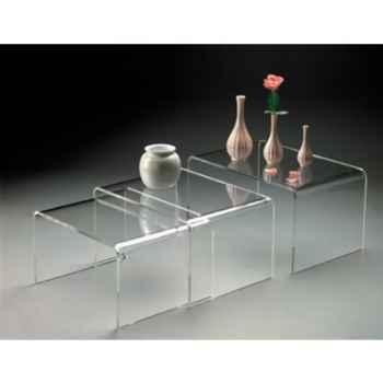 3 Tables gigognes Marais en PMMA -MC14