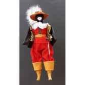 marionnette tetes fourrure marionnettes de france chat mousquetaire rouge fm401f01ro