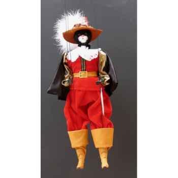 Marionnette têtes fourrure Marionnettes de France Chat mousquetaire rouge -FM401F01RO