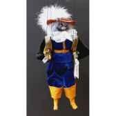 marionnettes de france a fils chat mousquetaire bleu fm401p01bl