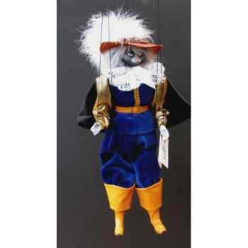Marionnettes de France à Fils Chat mousquetaire bleu -FM401P01BL