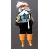 marionnettes de france a fils chat mousquetaire bleunoir fm401p01bn