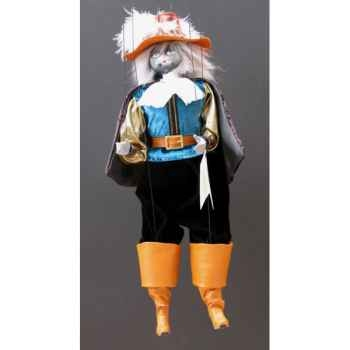 Marionnettes de France à Fils Chat mousquetaire bleunoir -FM401P01BN