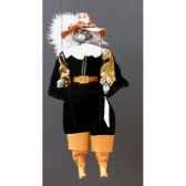 marionnettes de france a fils chat mousquetaire noir fm401p01no