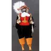 marionnettes de france a fils chat mousquetaire rouge noir fm401p01rn