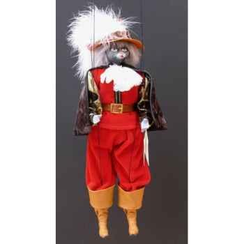 Marionnettes de France à Fils Chat mousquetaire rouge -FM401P01RO