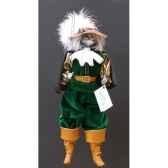 marionnettes de france a fils chat mousquetaire vert fm401p01ve