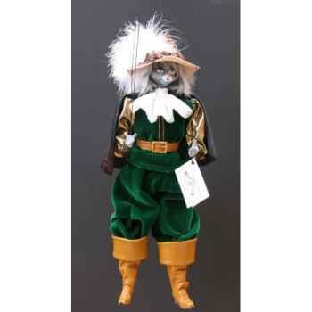 Marionnettes de France à Fils Chat mousquetaire vert -FM401P01VE