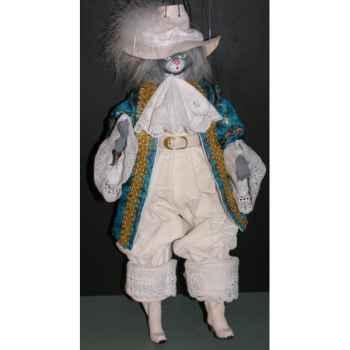 Marionnettes de France à Fils Chat marquis bleu -FM401P17SP2