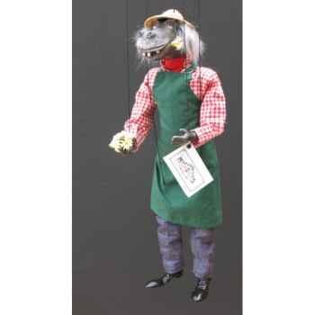 Marionnettes de France à Fils Hippopotame jardinier -FM407P27