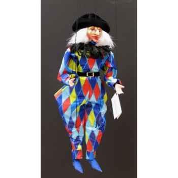 Marionnettes de France à Fils Arlequin bleu -FM413P13BL