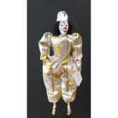 marionnettes de france a fils clown blanc fm414p15