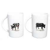 manique en coton vache black cow blckml