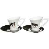 torchon en coton vache black cow blcktocl