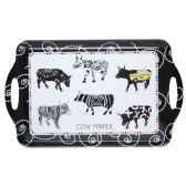 plateau avec poignees vache black cow blckppl