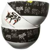 bols noirs et blancs en porcelaine vache black cow blckboll