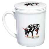 coffret 4 mugs en porcelaine vache black cow blckmugl