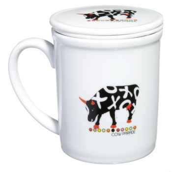 Coffret 4 mugs en porcelaine Vache Black Cow -blckMUGL