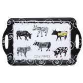 theiere noire et blanche avec filtre en porcelaine vache black cow blckthe2l